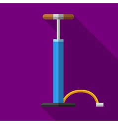 Colorful car or bicycle hand air pump icon in vector