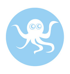 Cute octopus isolated icon vector