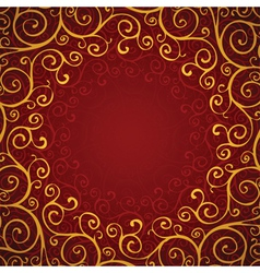decoration on a red background vector image
