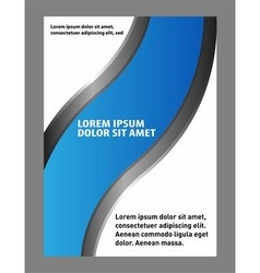 Design flyer whit black and blue bac vector