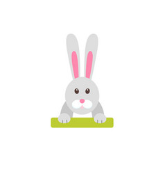 easter bunny flat icon vector image