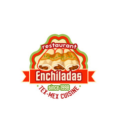 Enchiladas mexican cuisine fast food icon vector