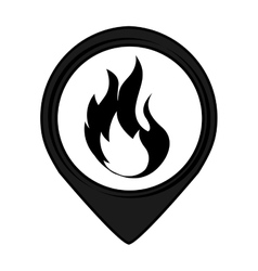 Fire pin pointer caution signal icon vector