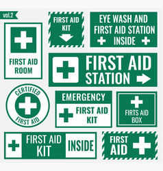 First aid label vector