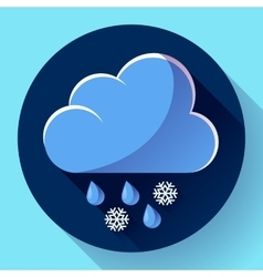 flat color weather meteorology icon vector image