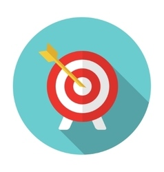 Flat target and arrow icon vector