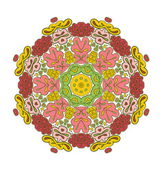 Floral lace motifs mandala zentangl relaxation vector