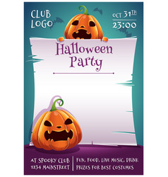 Happy halloween editable poster with angry and vector