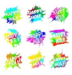 happy holi set vector image