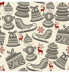 holiday winter pattern vector image