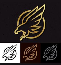 icon eagle mascot logo sport vector image