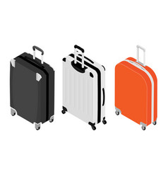 Isometric travel suitcase collection vector