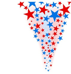 July 4th background stars flow vector image