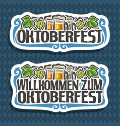 Logo for oktoberfest vector