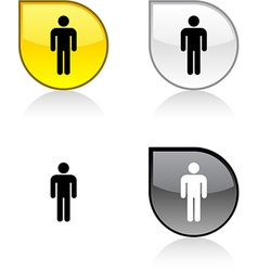 Male button vector image
