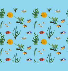 Marine fish colour vector