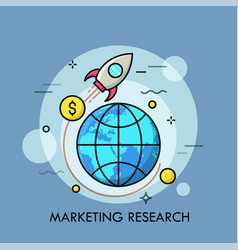 marketing research thin line concept vector image