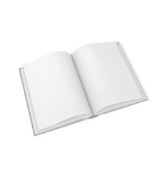 mockup open book template for design vector image