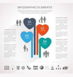 modern heart infographics vector image