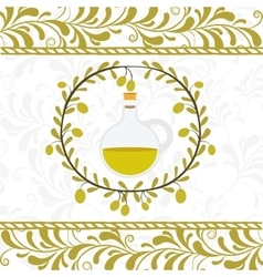 olive oil design vector image