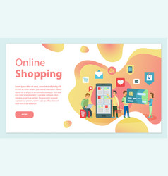 online shopping people choosing items from store vector image
