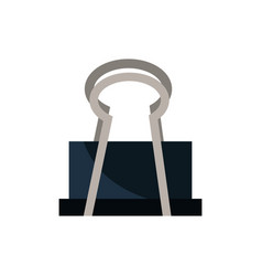 Paper clip office work business equipment icon vector