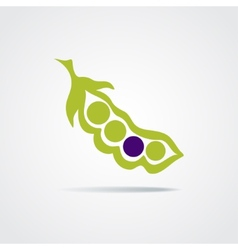 Pea pod isolated on a white background vector