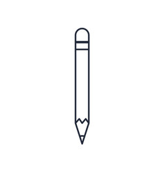 pencil wooden write school icon vector image