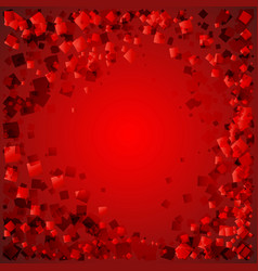 postcard of red diamonds on a bloody background vector image
