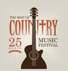 poster for country music festival with electric vector image