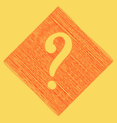 question mark sign red scribble icon vector image