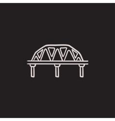 Rail way bridge sketch icon vector image
