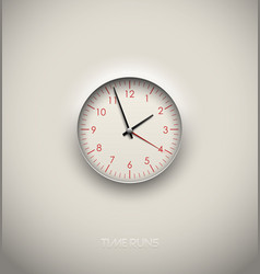 realistic round clock cut out in white background vector image