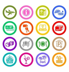 Recreation Travel Vacation icons vector image