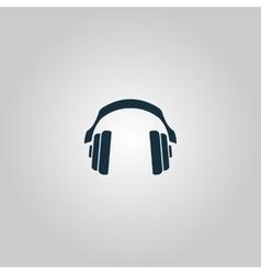 Retro headphone vector