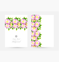 Romantic background with light pink blossoms with vector