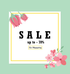 sale banner with floral ornament vector image