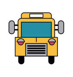 School bus frontview icon image vector