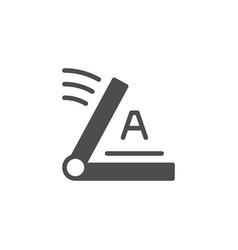 Screen printing equipment glyph icon vector