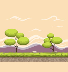 seamless cartoon game background vector image