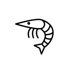 Shrimp line icon vector