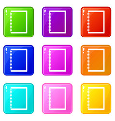 Sketchbook icons 9 set vector