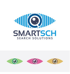 smart search logo vector image