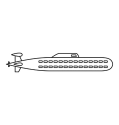 Submarine icon outline style vector