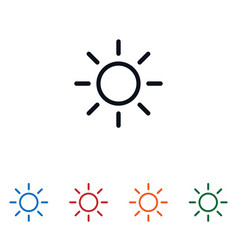 sun icon isolated on white background sun icon in vector image