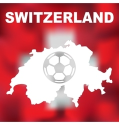 Swiss Abstract Map vector
