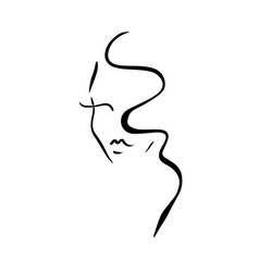 template logo for beauty products abstract girl vector image