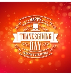 typography design thanksgiving blurred vector image