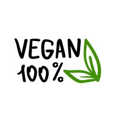 vegan logo icon vector image
