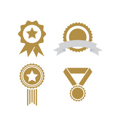 winner badge graphic template vector image